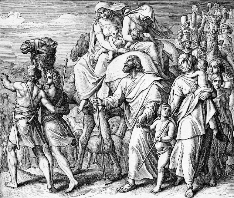 иллюстрация к библии БЫТИЕ глава 31