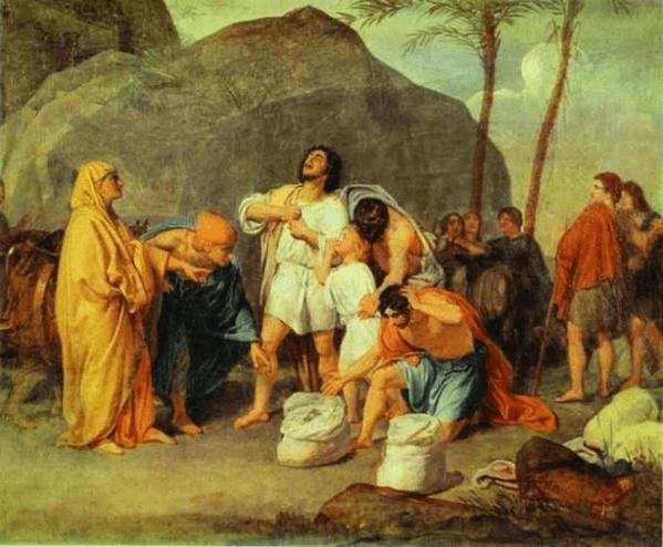 иллюстрация к библии Книга Бытие глава 44