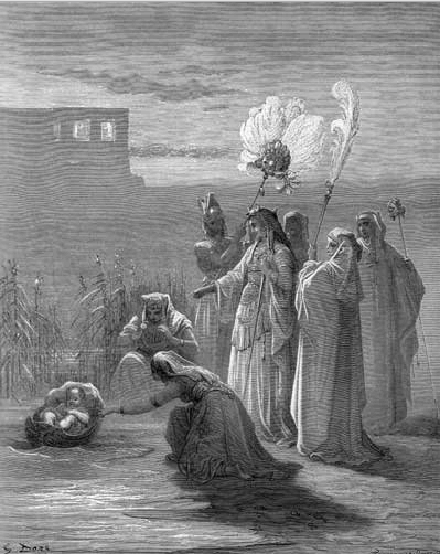 иллюстрация к библии Исход глава 2
