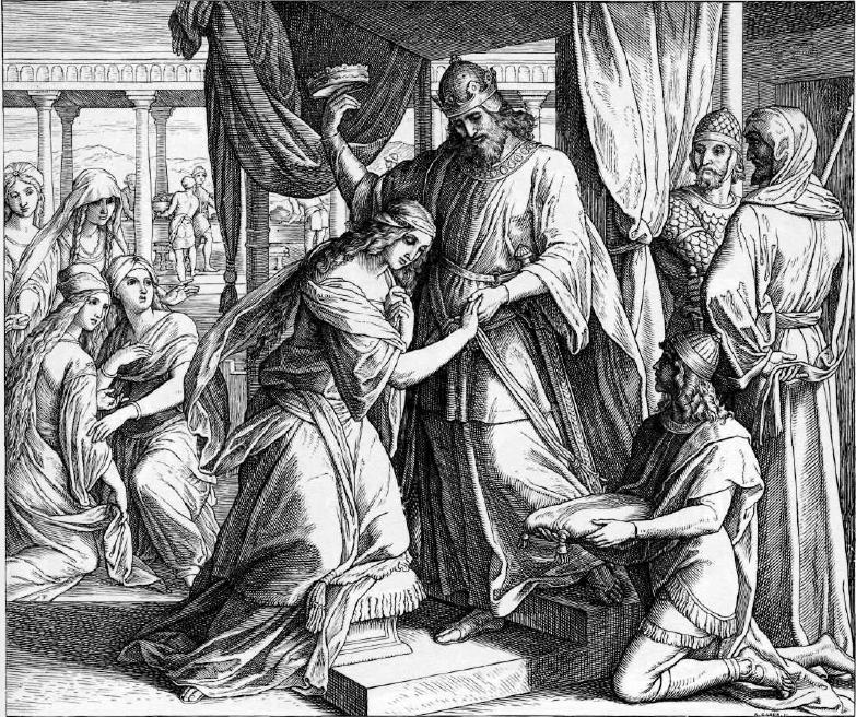 иллюстрация к библии КНИГА ЕСФИРЬ глава 2