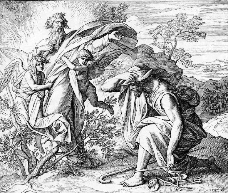 иллюстрация к библии ИСХОД глава 3