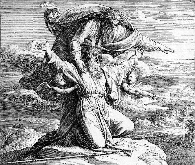 иллюстрация к библии ВТОРОЗАКОНИЕ глава 34