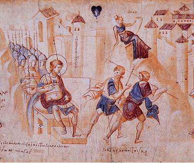 иллюстрация к библии Иисус Навин глава 8