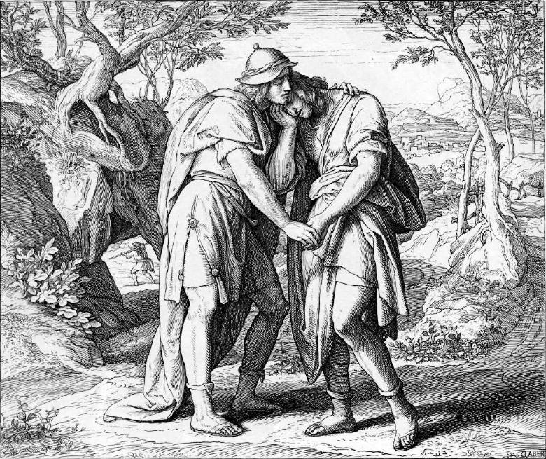 иллюстрация к библии ПЕРВА КНИГА ЦАРСТВ глава 20