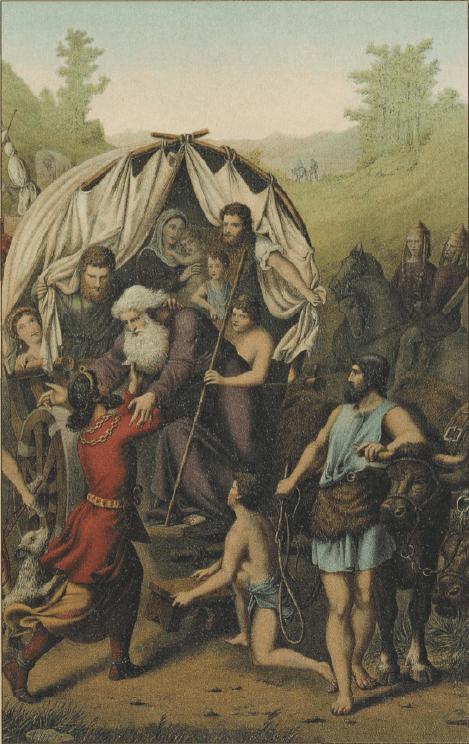 иллюстрация к библии Бытие глава 48