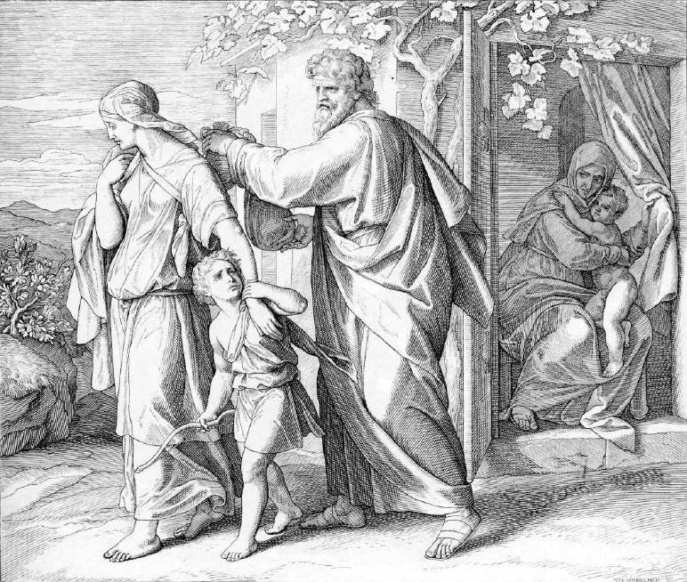 иллюстрация к библии БЫТИЕ глава 21