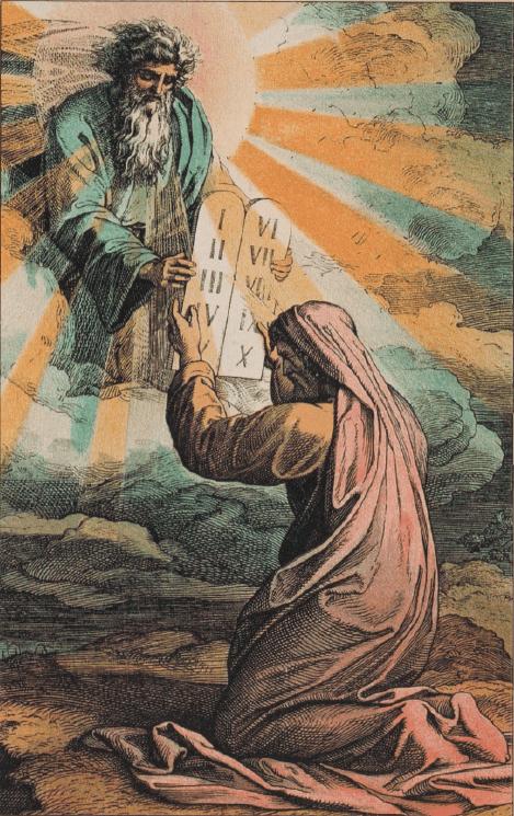 иллюстрация к библии Исход глава 20