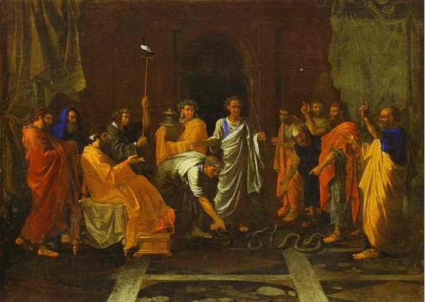 иллюстрация к библии Книга Исход глава 7