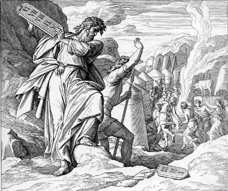 иллюстрация к библии ИСХОД глава 32
