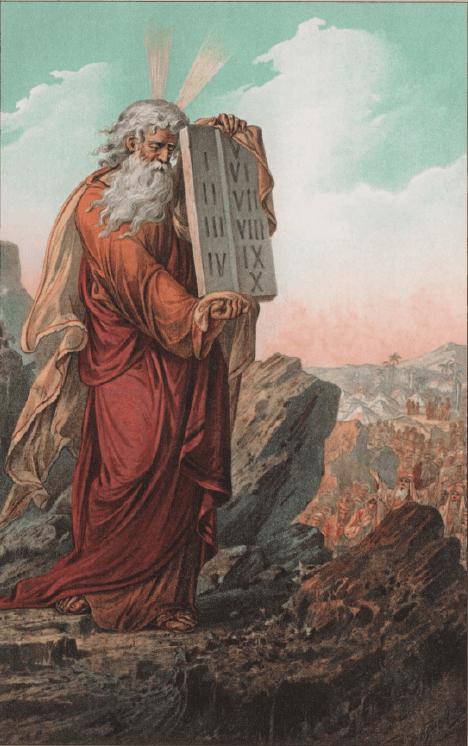 иллюстрация к библии Исход глава 34