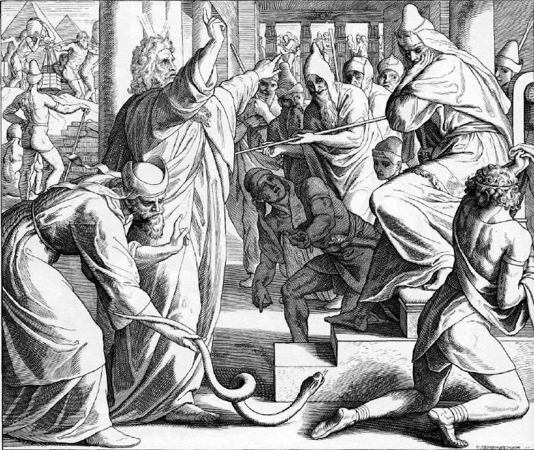 иллюстрация к библии ИСХОД глава 7