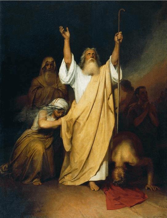 иллюстрация к библии Книга Исход глава 15
