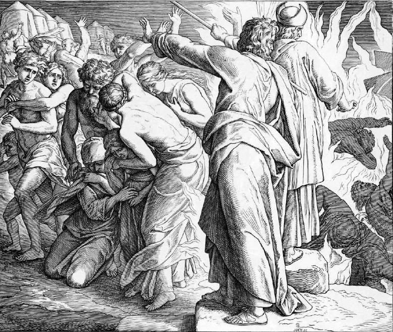 иллюстрация к библии ЧИСЛА глава 16