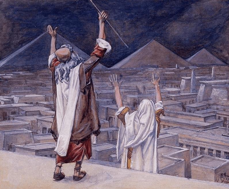 иллюстрация к библии Книга Исход глава 11