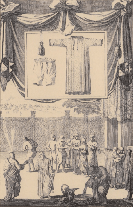 иллюстрация к библии Левит глава 13