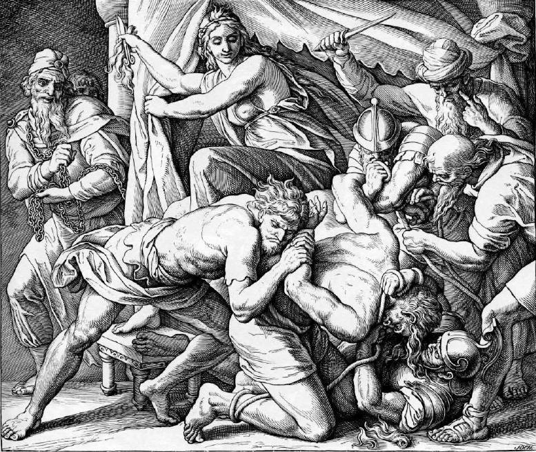 иллюстрация к библии КНИГА СУДЕЙ ИЗРАЕЛЕВЫХ глава 16