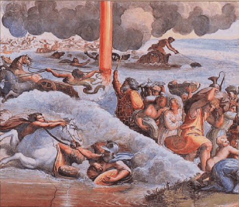 иллюстрация к библии Исход глава 14
