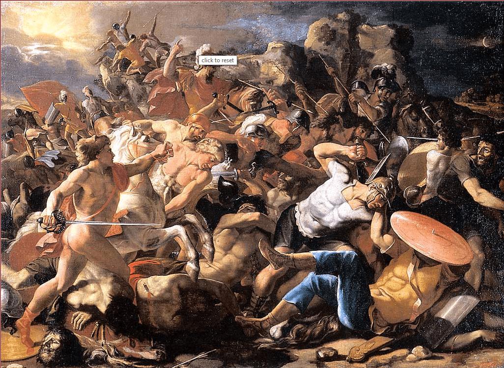 иллюстрация к библии КНИГА ИИСУСА НАВИНА глава 10