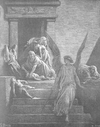 иллюстрация к библии Исход глава 12