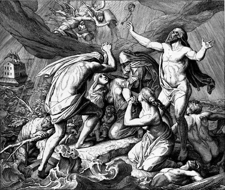 иллюстрация к библии БЫТИЕ глава 7