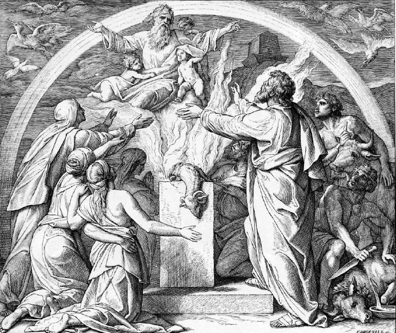 иллюстрация к библии БЫТИЕ глава 8