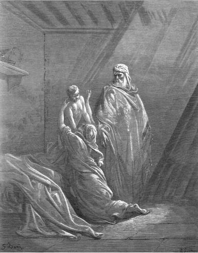 иллюстрация к библии ТРЕТЬЯ КНИГА ЦАРСТВ глава 17