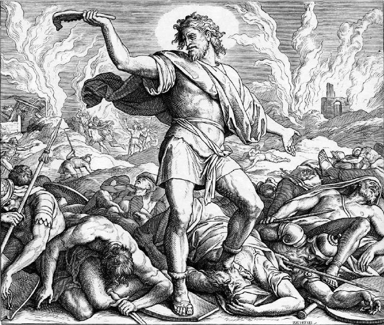 иллюстрация к библии КНИГА СУДЕЙ ИЗРАЕЛЕВЫХ глава 15