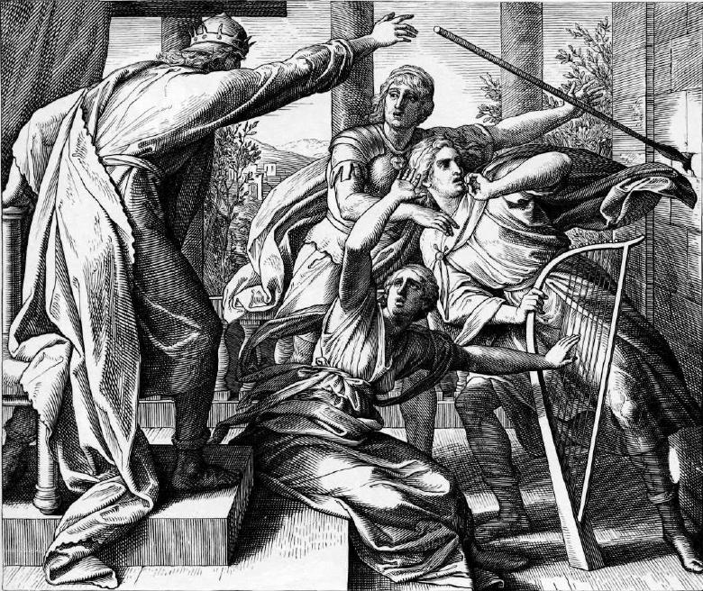 иллюстрация к библии ПЕРВА КНИГА ЦАРСТВ глава 19