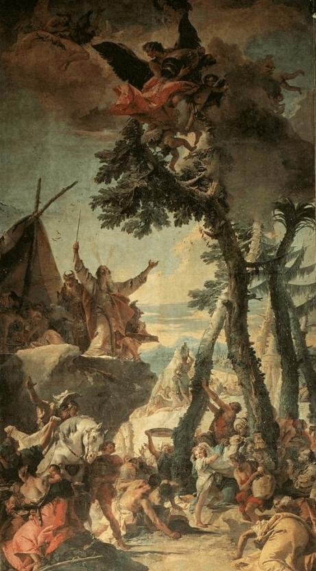 иллюстрация к библии Исход глава 16