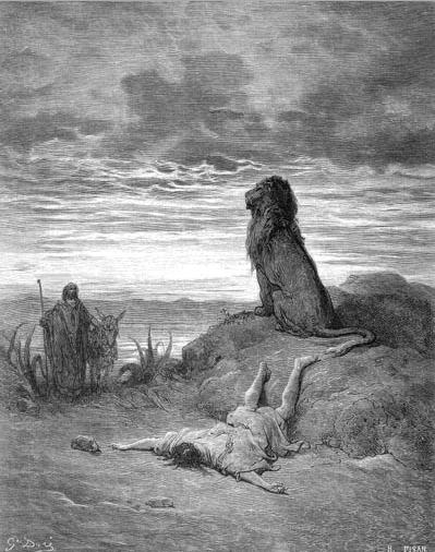 иллюстрация к библии ТРЕТЬЯ КНИГА ЦАРСТВ глава 13