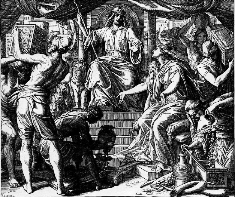 иллюстрация к библии ТРЕТЬЯ КНИГА ЦАРСТВ глава 10