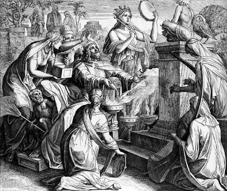 иллюстрация к библии ТРЕТЬЯ КНИГА ЦАРСТВ глава 11