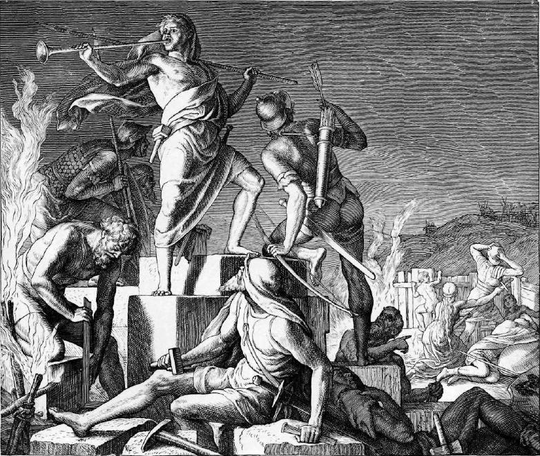 иллюстрация к библии КНИГА НЕЕМИИ глава 4