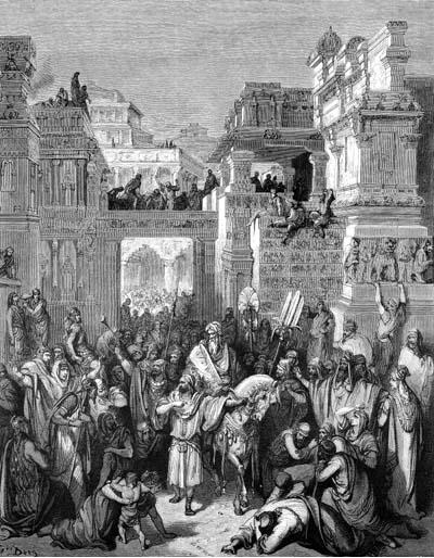 иллюстрация к библии КНИГА ЕСФИРЬ глава 6
