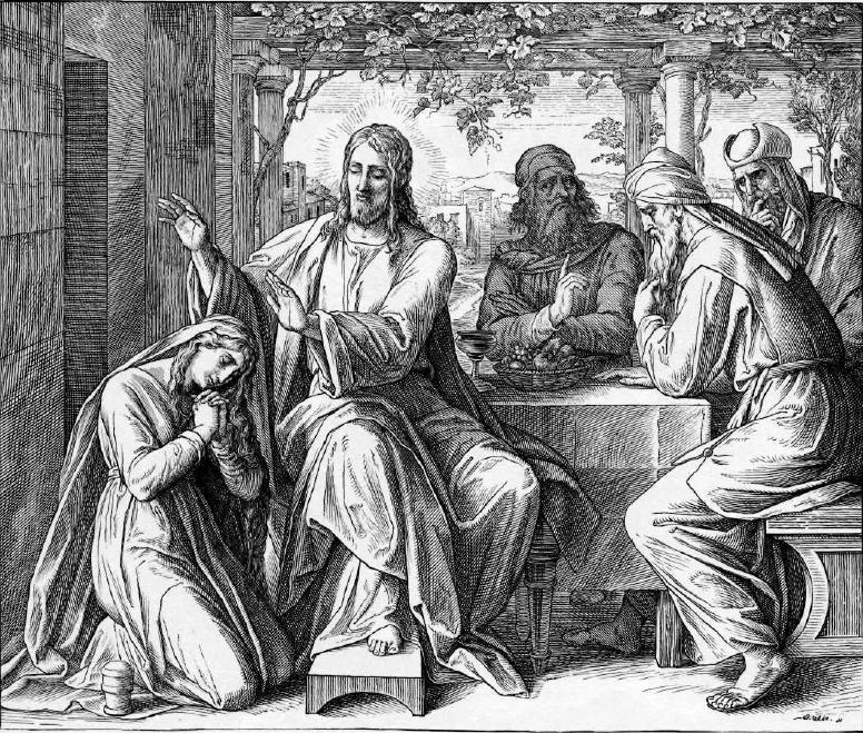 иллюстрация к библии ЕВАНГЕЛИЕ ОТ ЛУКИ глава 7