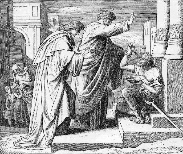 иллюстрация к библии ДЕЯНИЕ СВЯТЫХ АПОСТОЛОВ глава 3