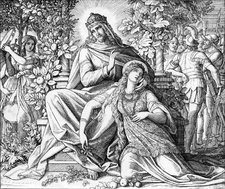 иллюстрация к библии КНИГА ПЕСНИ ПЕСНЕЙ СОЛОМОНА глава 1