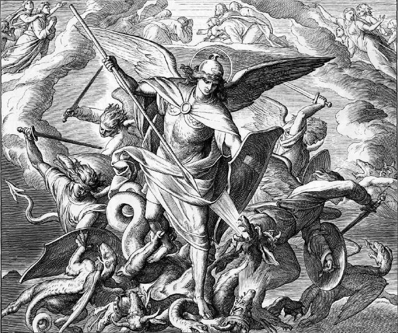 иллюстрация к библии ОТКРОВЕНИЕ ИОАННА БОГОСЛОВА глава 12