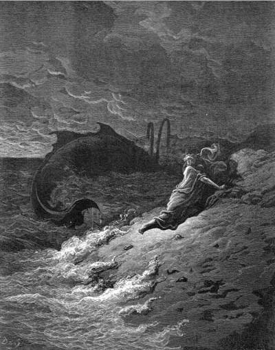 иллюстрация к библии КНИГА ПРОРОКА ИОНЫ глава 2
