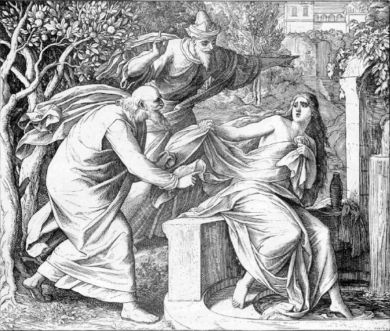 иллюстрация к библии КНИГА ПРОРОКА ДАНИИЛА глава 13