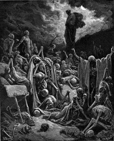 иллюстрация к библии КНИГА ПРОРОКА ИЕЗЕКИИЛЯ глава 37