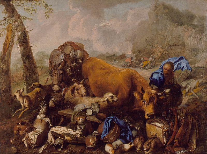 Ной приносит жертву после потопа