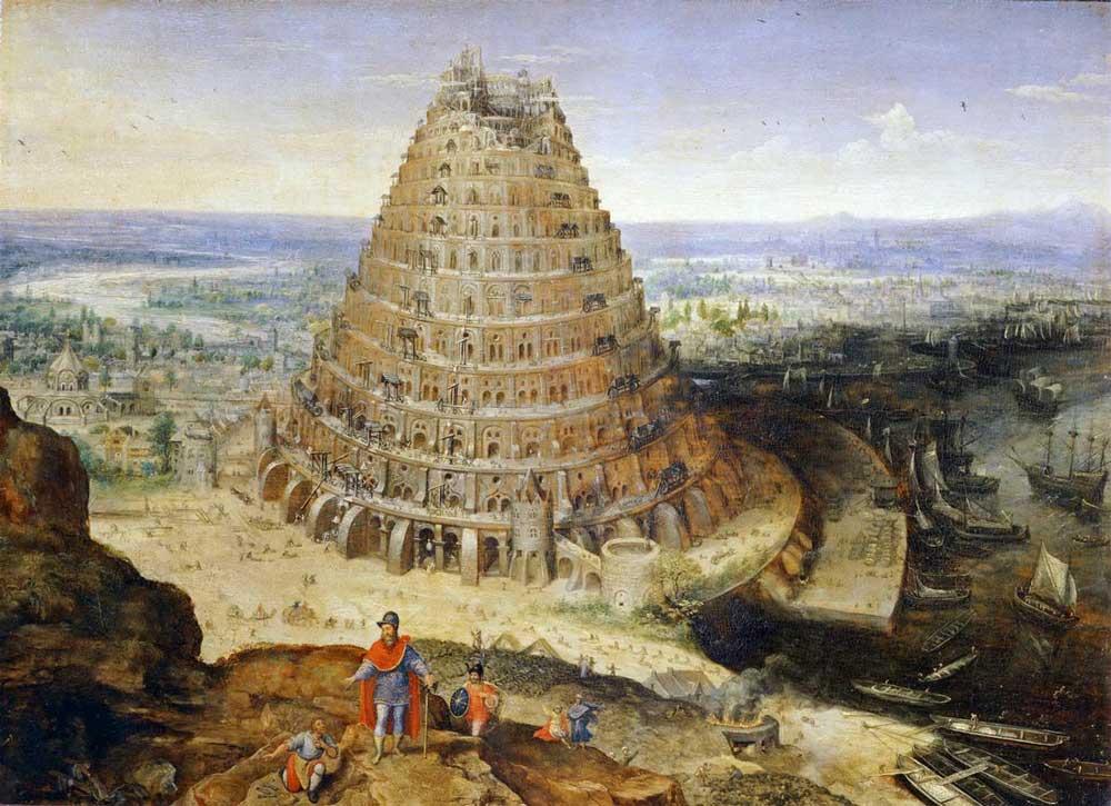 вавилонская башня картина