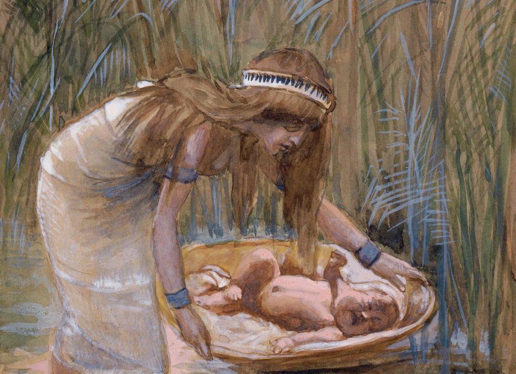 Находка моисея дочерью фараона