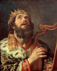 Царь Давид, играющий на арфе