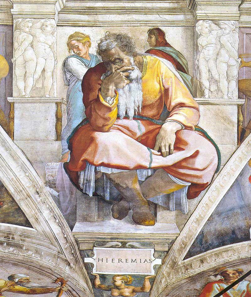 Пророк Иеремия, Микеланжело Буонаротти