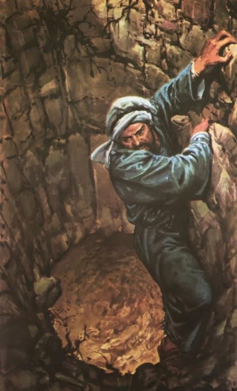 Пророк Иеремия в яме с грязью