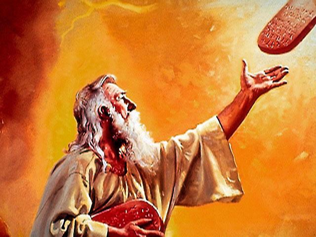 бог дает моисею заповеди