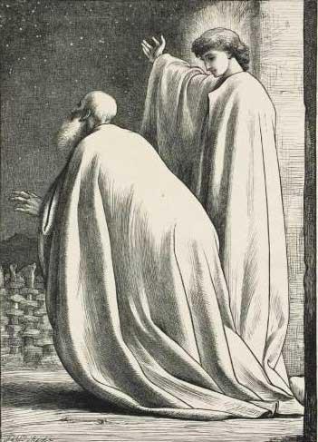 Авраам и ангел. Художник Фредерик Лейтон, 1881 г.
