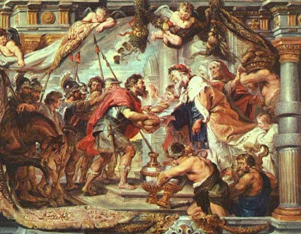 Авраам встречает Малки-Цедека. Художник Питер Пауль Рубенс, 1625 г.